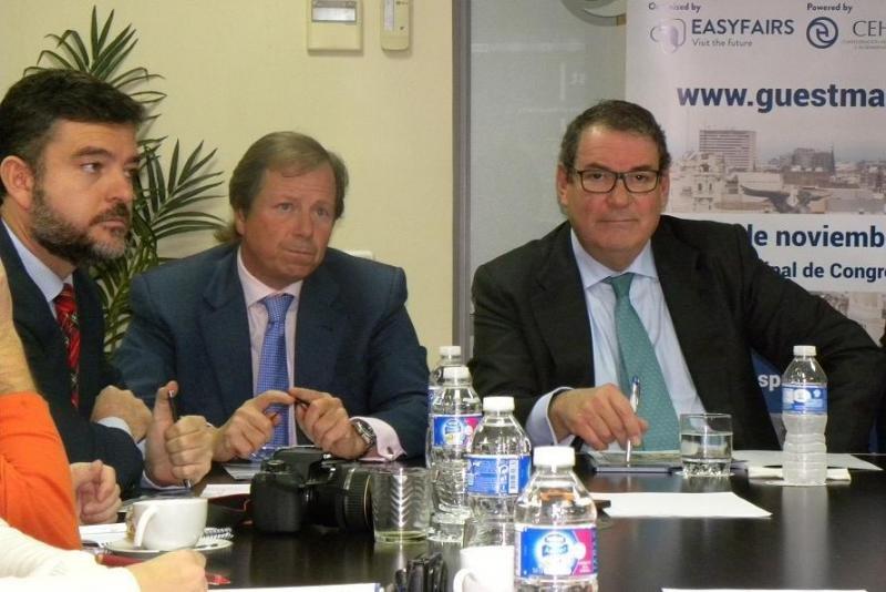 De izq. a dcha, Álvaro Carrillo, Ramón Estalella y Joan Molas.