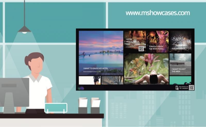 Showcases convierte cualquier pantalla del hotel en un escaparate virtual.