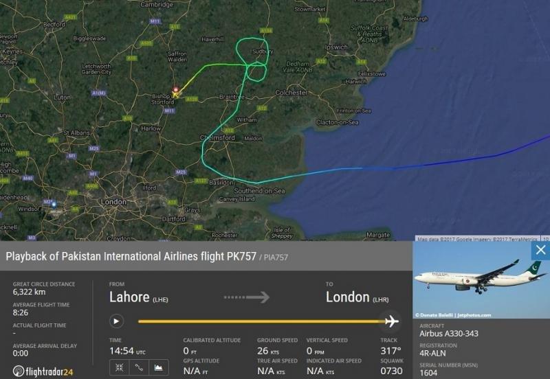 Un avión paquistaní es desviado y escoltado por cazas británicos