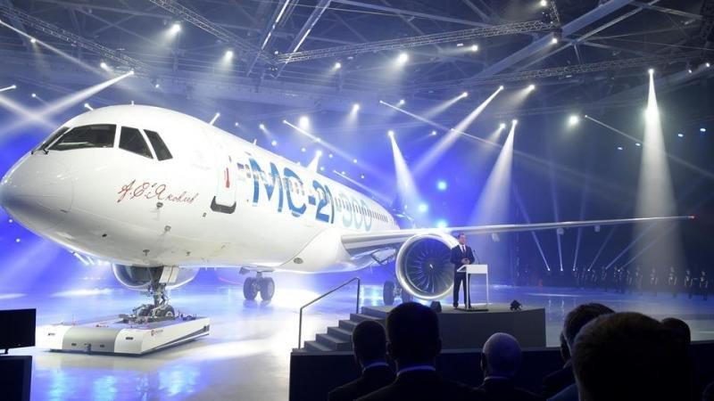 El avión comercial ruso MS21.