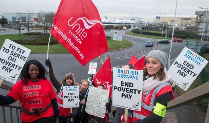 La tripulación de cabina de British Airways convoca otra huelga por salarios