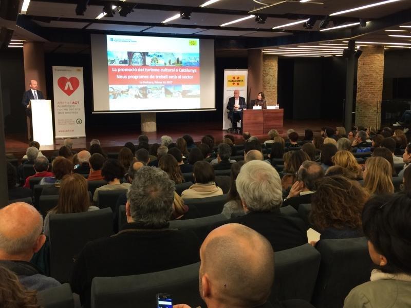 Presentación de la nueva estrategia de turismo cultural en Cataluña.