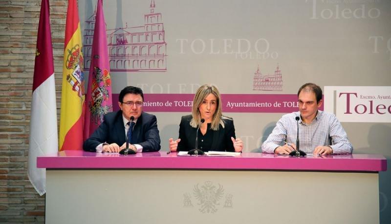 La alcaldesa de Toledo, Milagros Tolón, durante la presentación del proyecto