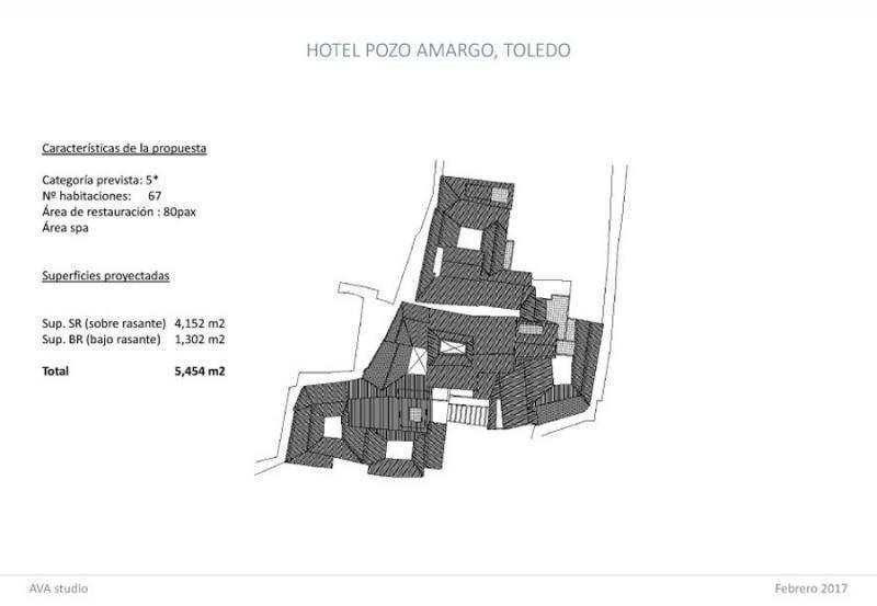Hotusa invertirá 6 M € en la construcción de un 5 estrellas en el centro de Toledo