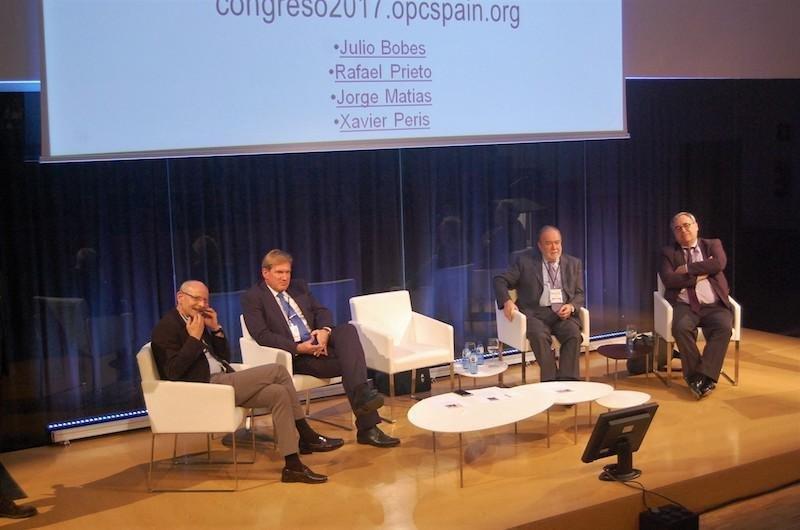 Representantes de las asociaciones de médicos que han participado en el congreso anual de OPC España, celebrado en Lleida.