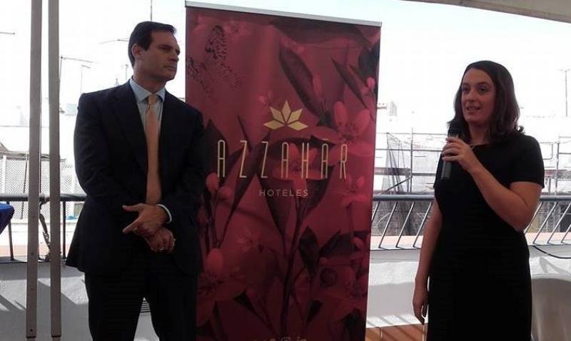Nicolás Álvarez y Lilian Ferral durante la presentación de la marca.
