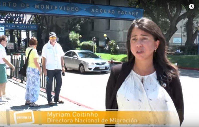 Myriam Coitiño, directora de Migración de Uruguay en la web institucional del Ministerio del Interior.