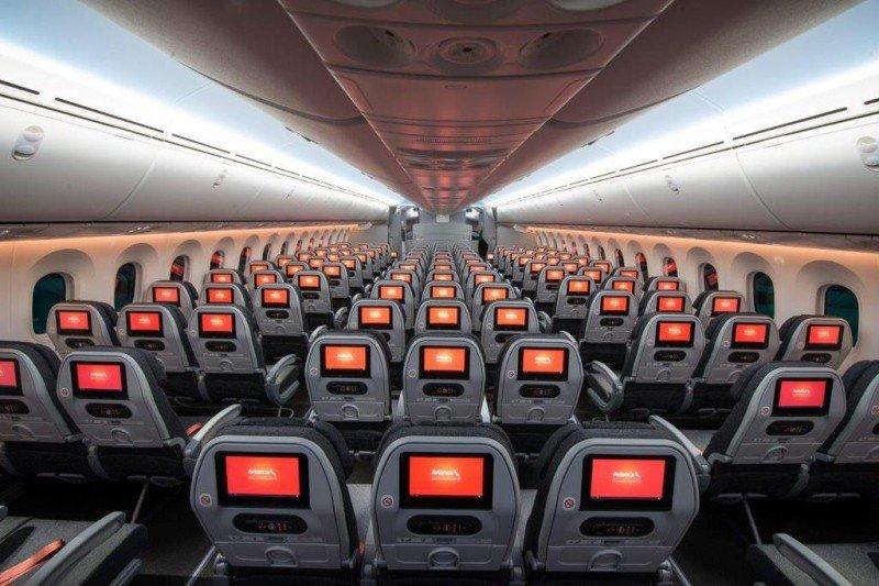 Cabina del Dreamliner de Avianca.
