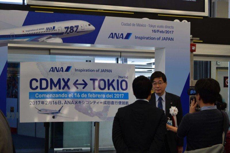 En México se realizó una recepción especial para el nuevo vuelo de ANA.