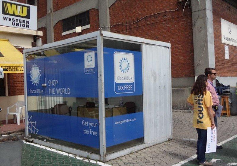 Oficina de Global Blue en el puerto de Montevideo.