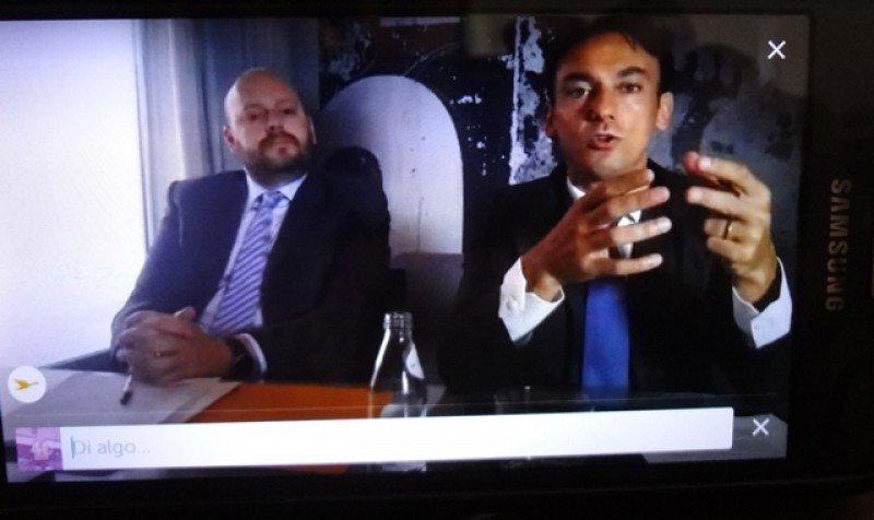 Abel Castro y Patrick Mendes en la innovadora conferencia de prensa vía Periscope que desarrolló Accor en Sudamérica.