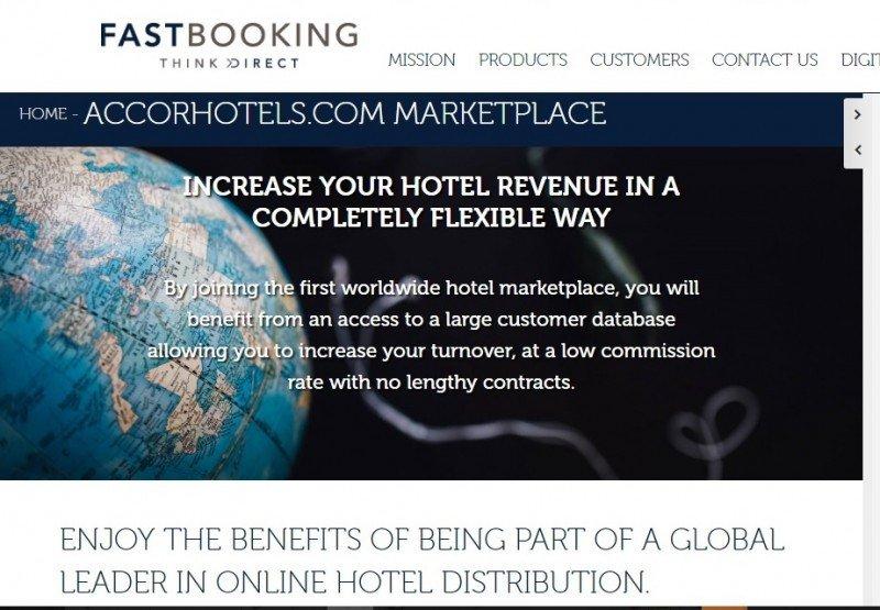 Fastbooking es la plataforma que adquirió Accor  para integrar hoteles independientes a su sistema de distribución.