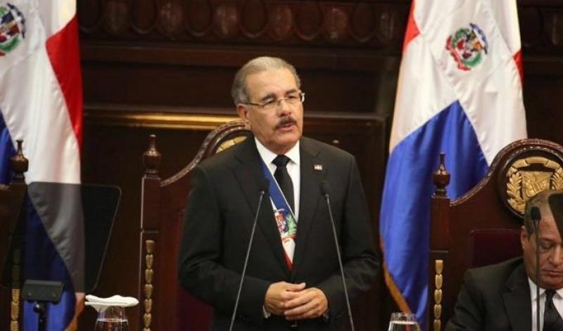 El presidente Danilo Medina durante su Rendición de Cuentas este 27 de Febrero