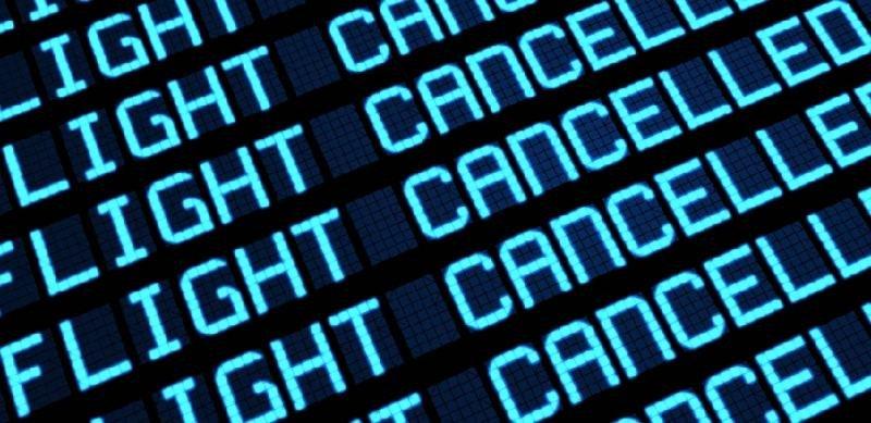 Cancelan 14 vuelos en España en las primeras horas