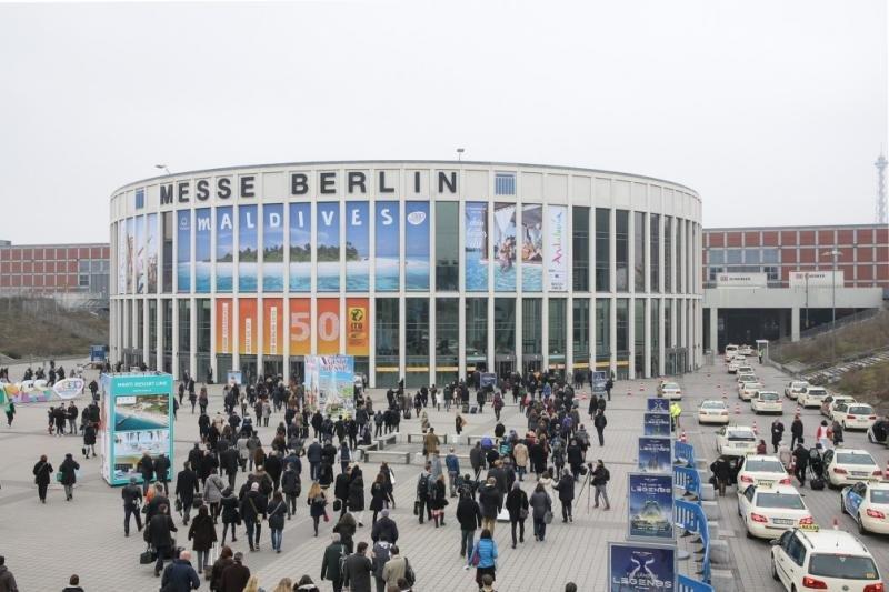 Entrada al recinto ferial Messe Berlin, donde se celebra la feria turística ITB esta semana.