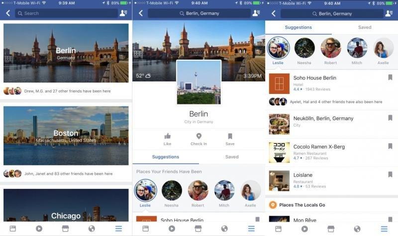 Imagen de la nueva herramienta de Facebook, City Guides. Foto: TechCrunch.