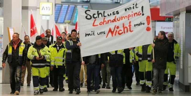 El personal de tierra de los aeropuertos de Berlin reanudan la huelga