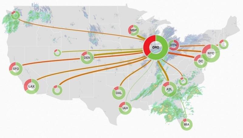 Más de 5.300 vuelos cancelados en EEUU por una tormenta de nieve