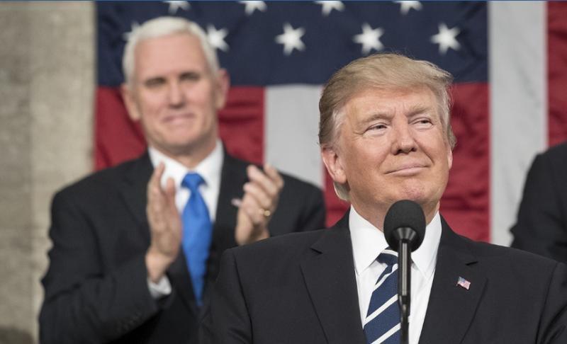 Donald Trump en el Congreso de los EEUU. Imagen: The White House.