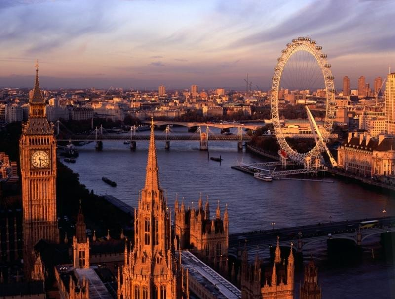 Vista aérea de Londres.