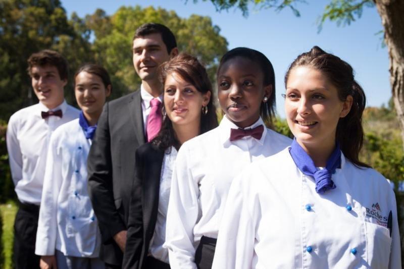 Estudiantes de la Escuela Les Roches Marbella.