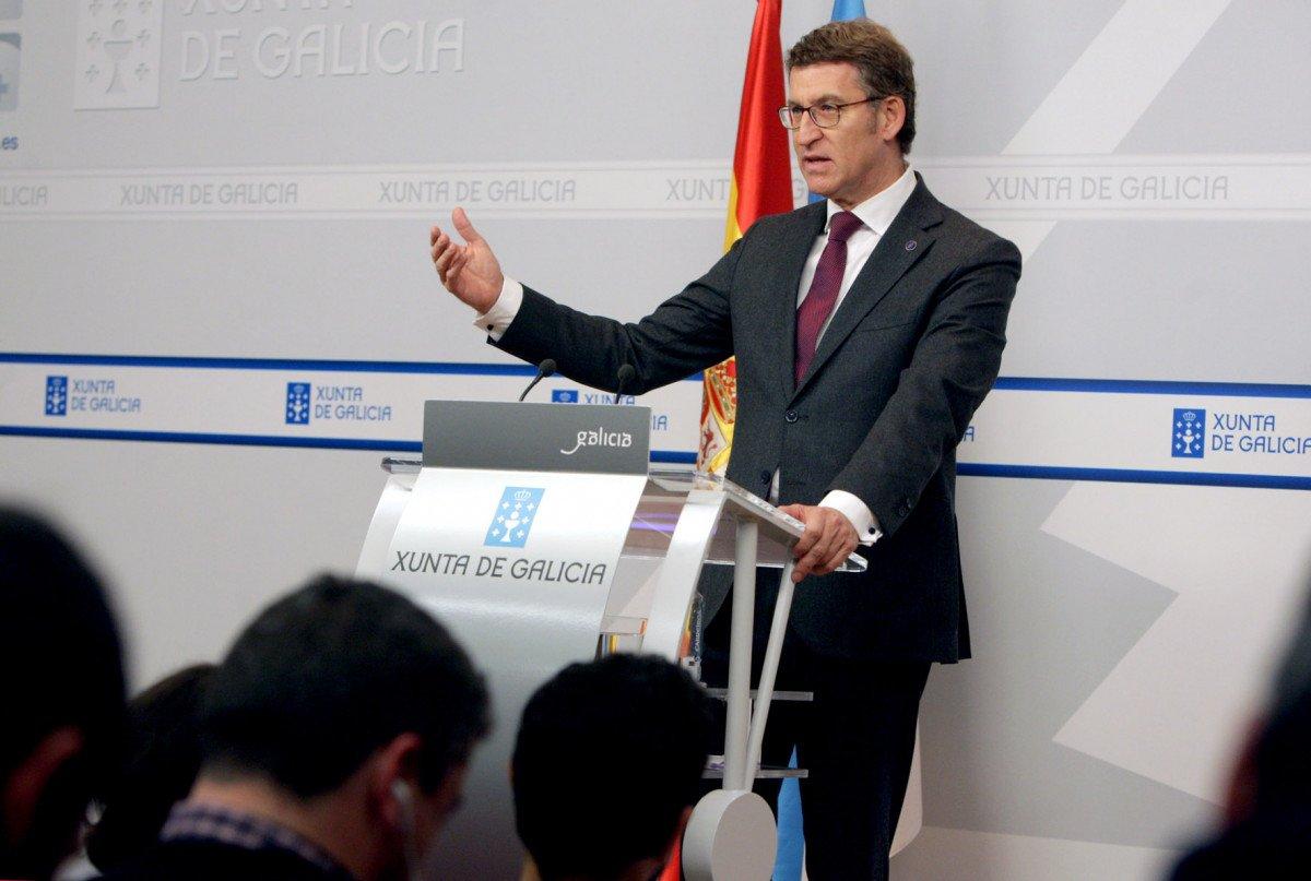 Alberto Núñez Feijóo, en la rueda de prensa posterior al Consejo de Gobierno.