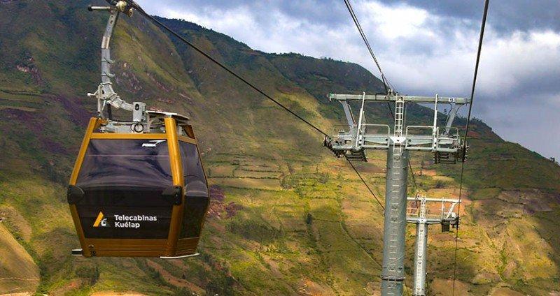 Las 26 cabinas recorren algo más de 4 kilómetros y salvan un desnivel de 670 metros hasta la fortaleza. Foto: Presidencia Perú.