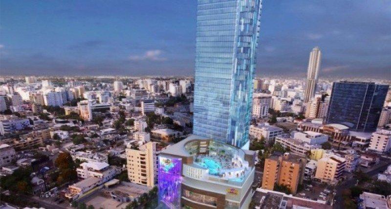 Proyecto de Hard Rock en Santo Domingo, con 38 pisos, un casino y varias plantas de negocios y entretenimientos.