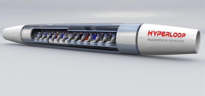 Cómo sería una de las cápsulas del Hyperloop (Foto: Efe):