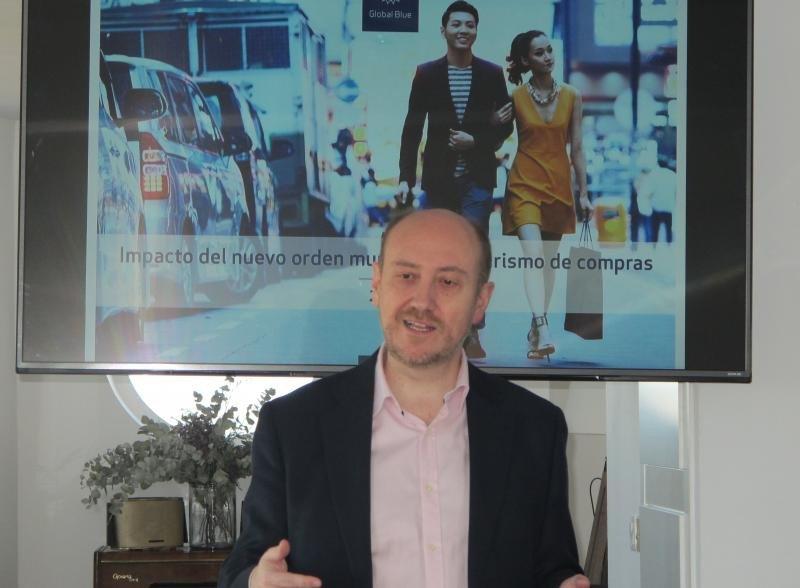 El director de Global Blue, Luis Llorca, durante la presentación del estudio ayer en Madrid.