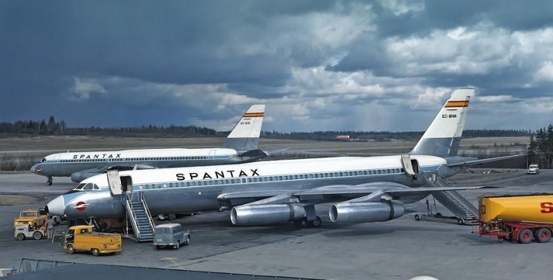 El Convair Coronado de Spantax en todo su esplendor.