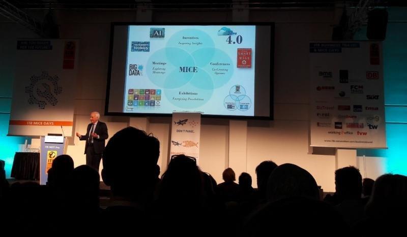 Charles M. Savage, presidente de Knowledge Era Enterprising International, recomendó los pasos a dar para alcanzar el MICE 4.0.
