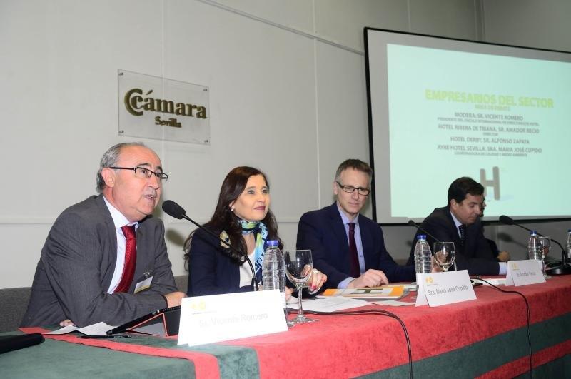 Vicente Romero, María José Cupido, Amador Recio y Alfonso Zapata (de izqu. a dch.)