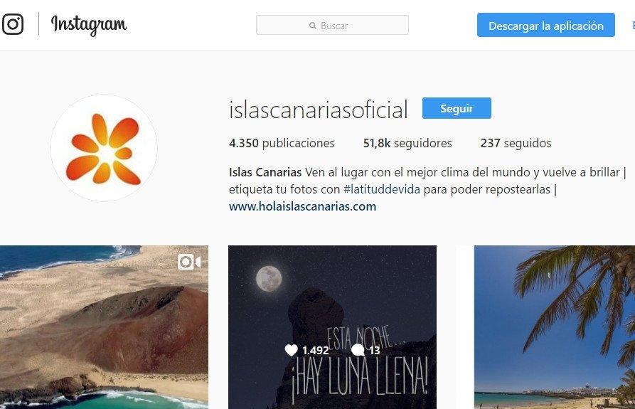 Canarias es la segunda comunidad autónoma con más seguidores en Instagram.