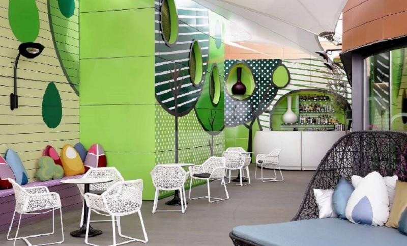 La terraza del hotel Indigo Madrid
