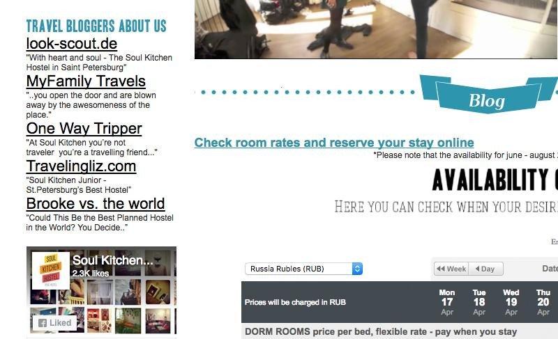 Enlaces de blogs y publicaciones que mencionan el alojamiento Soul Kitchen.