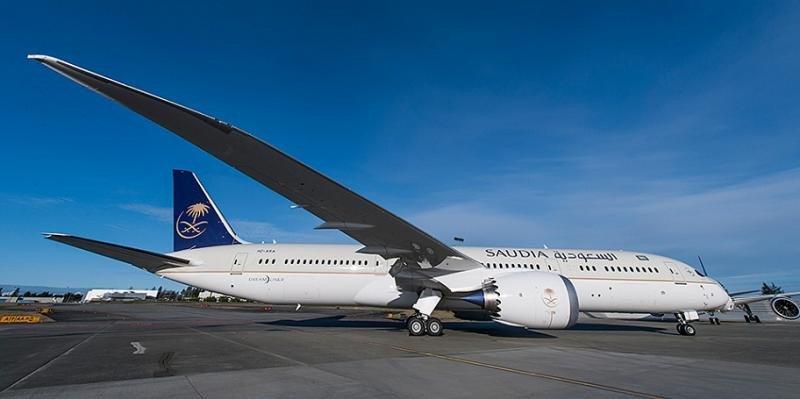 La aerolínea Saudia operará su ruta con Madrid con  su nuevo B787-900 Drealiner.