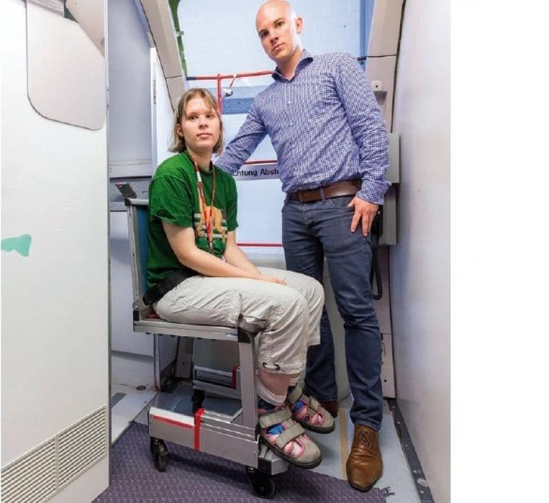 Airbus está trabajando con usuarios de sillas de ruedas para encontrar una solución innovadora para el uso del lavabo a bordo.