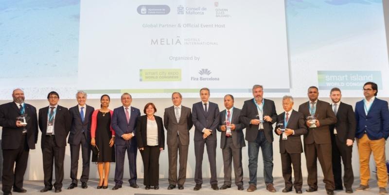 Entrega de los premios en la primera edición del congreso Smart Island