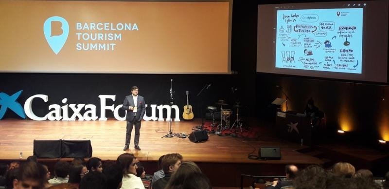 Juan Carlos Iglesias, de Grup Iglesias, en su intervención en Barcelona Tourism Summit.