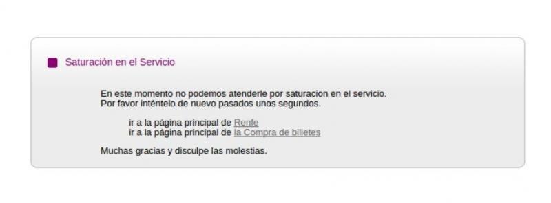 Colapsa la web de Renfe con la venta de los primeros billetes AVE a 25 €