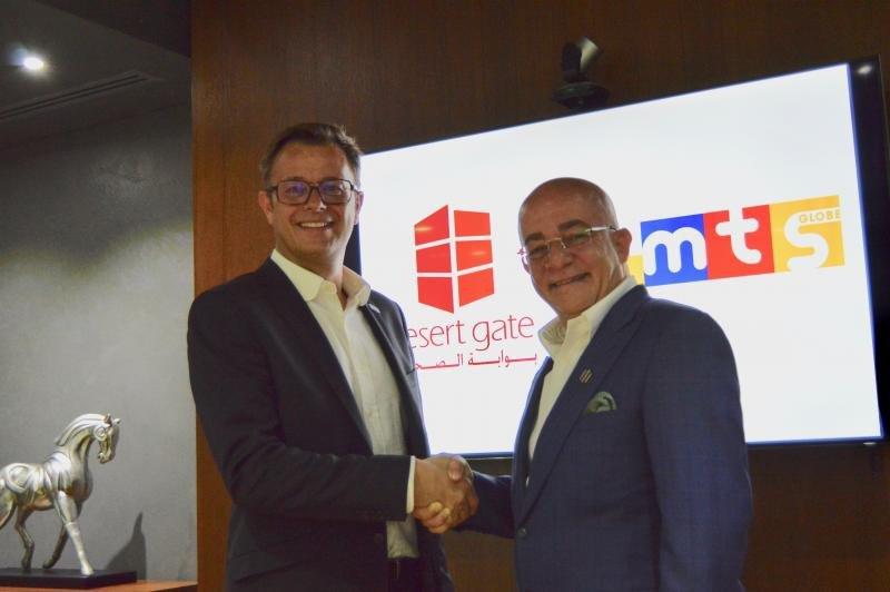 Michael Frey, CEO de MTS Globe, y Samir Tabbah, CEO de Desert Gate.