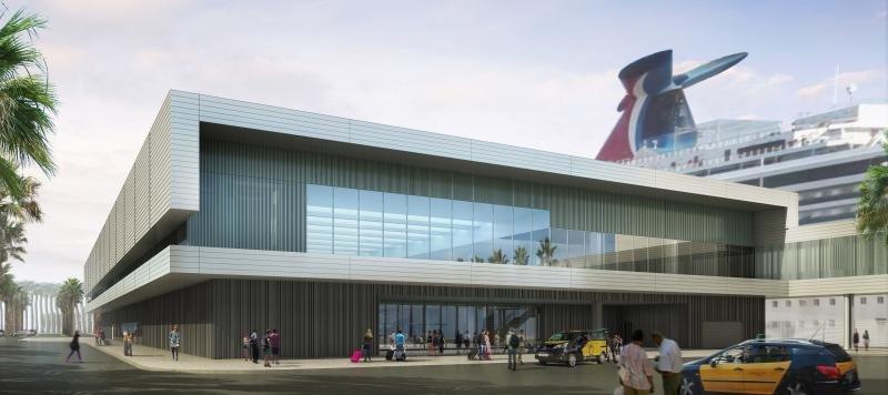 Carnival desvela diseños para su nueva terminal de Barcelona