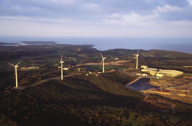 Parque eólico de Menorca.