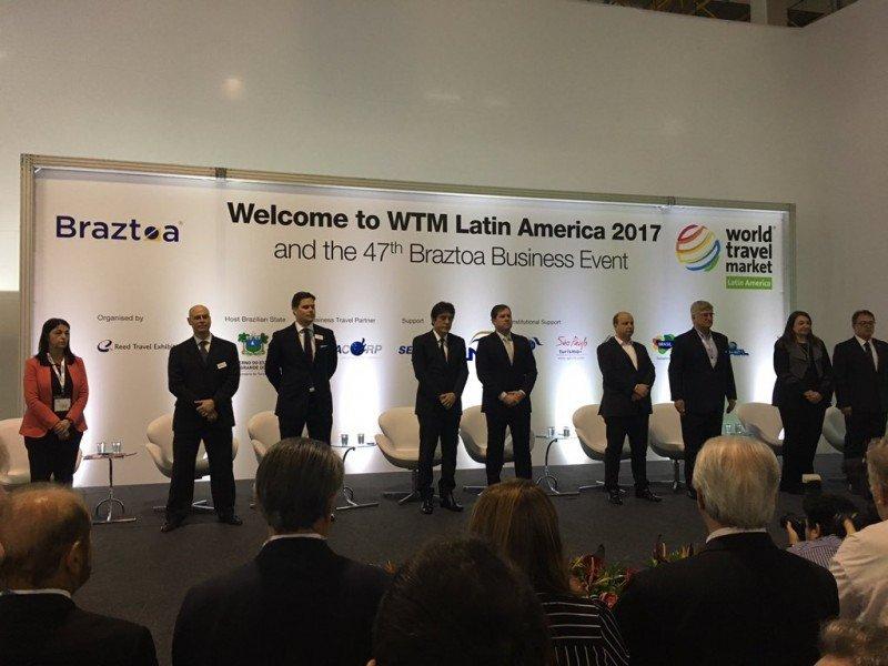 Acto inaugural de la WTM Latin America 2017.