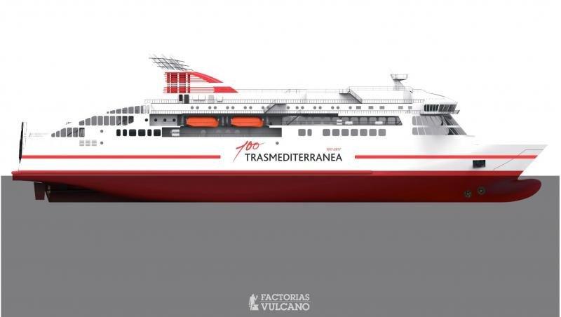Trasmediterranea anuncia un nuevo ferry de última generación