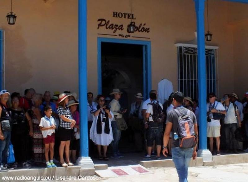 Hotel Plaza Colón. Foto: Radio Angulo/Lisandra Cardoso.