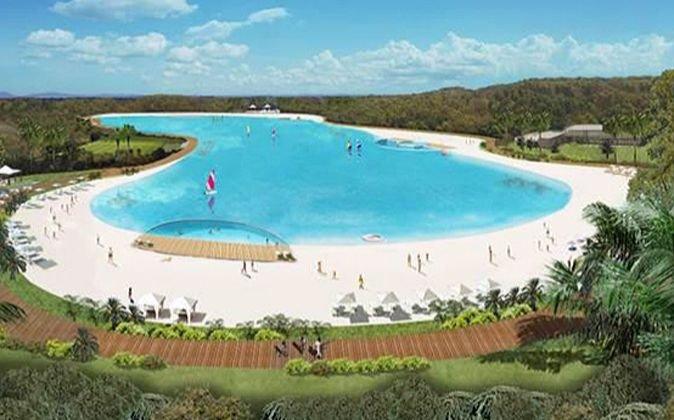 La nueva propuesta de Cordish contempla una playa de uso público en el centro del complejo.