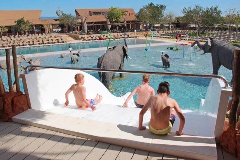 La nueva piscina, llamada África pool, dispone de dos vasos de agua y está tematizada con un gran baobab del que salen cinco toboganes.