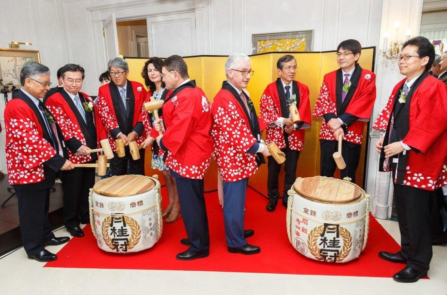 Acto inaugural de la nueva oficina en un evento celebrado en la residencia del embajador de Japón en Madrid (fotografía de Iván Sánchez).